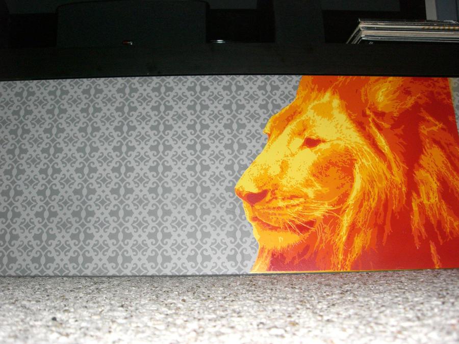 Lion Stencil by Boomrain