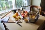 preparing the fruit filling