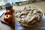the apple pie is done