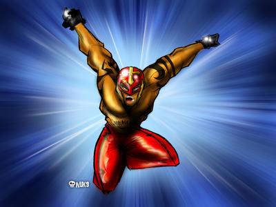 Rey Mysterio finished piece by nuknueve