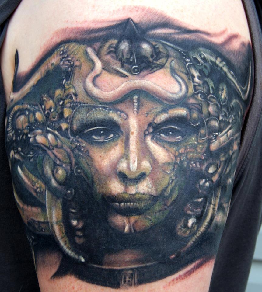 H. R. Giger artwork tattoo. | Cool Tattoos | Pinterest