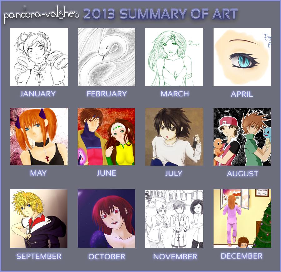2013 Summary of Art by Pandora-Valshe
