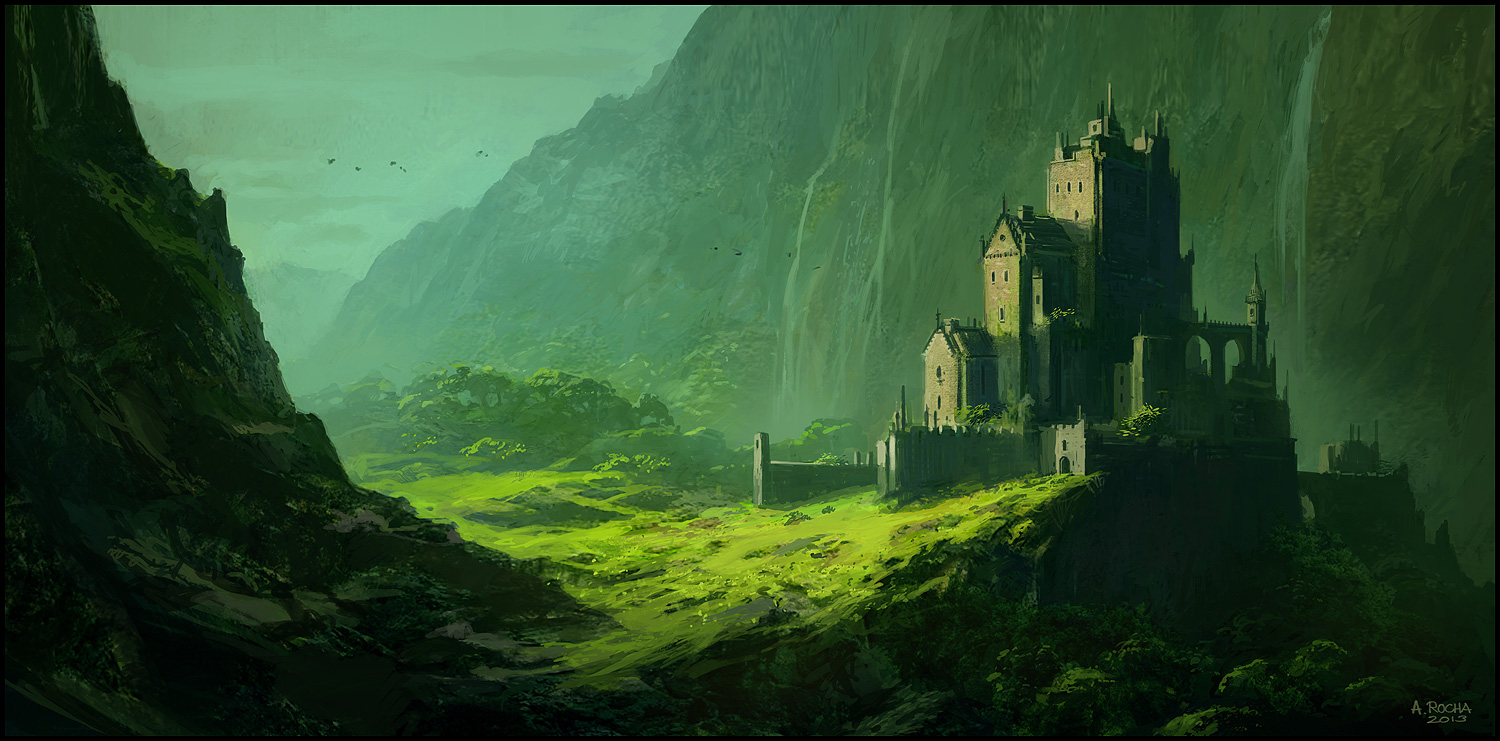 Fantasy Mountain Fortress The last fortress by