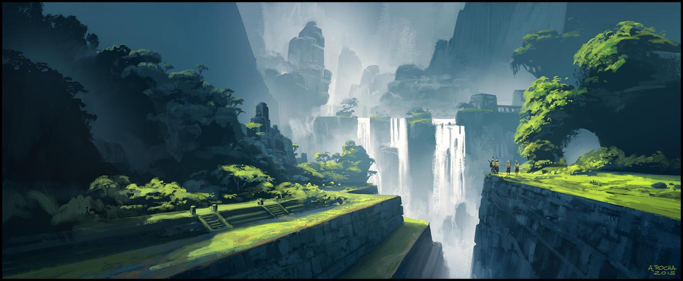 Les Mondes Imaginaires Waterfallmemories01_by_andreasrocha-d9hu43e