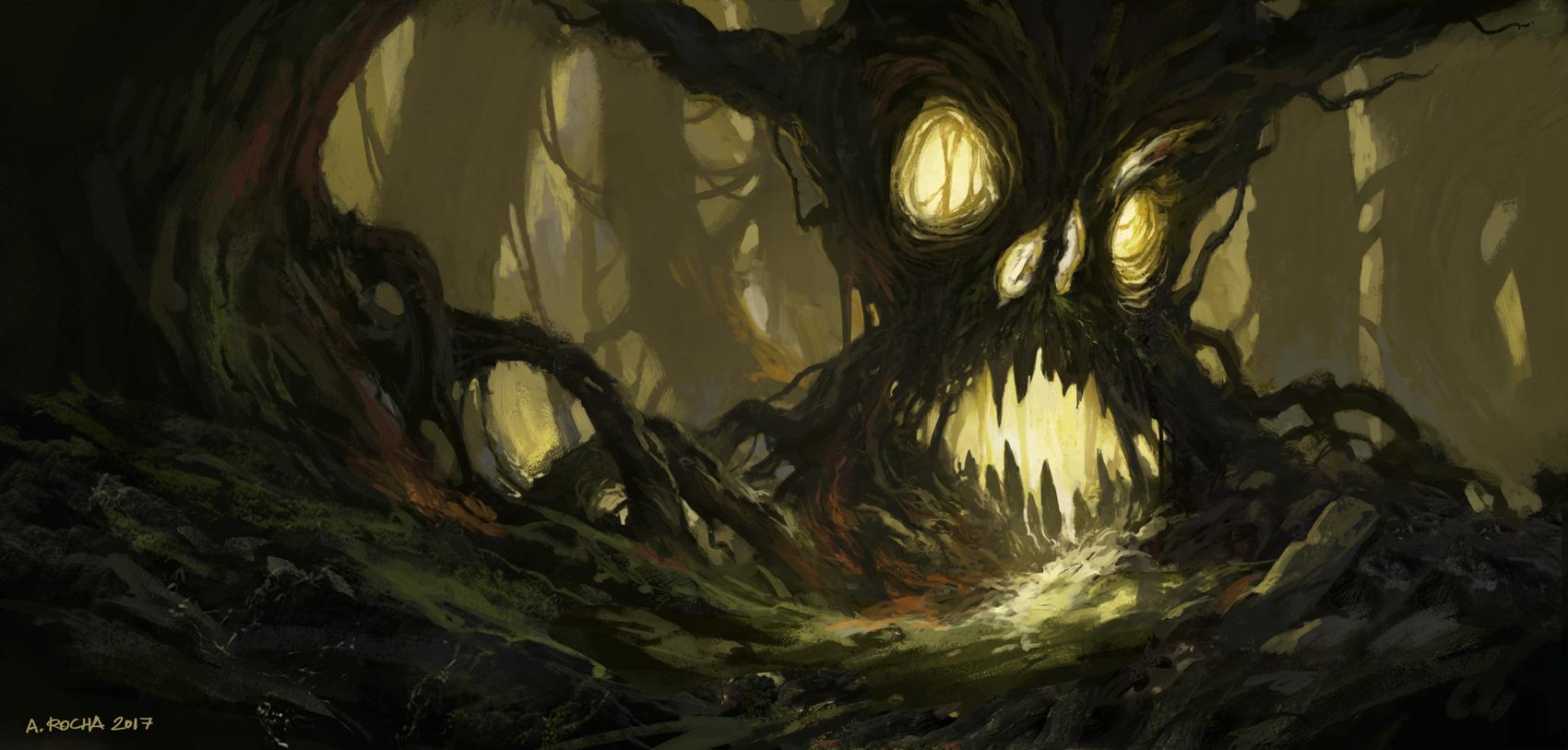 evil tree by andreasrocha on deviantart