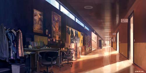 School Corridor by andreasrocha