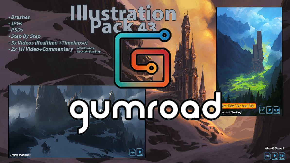 Illustration Pack 43 on Gumroad+ArtStation by andreasrocha on DeviantArt