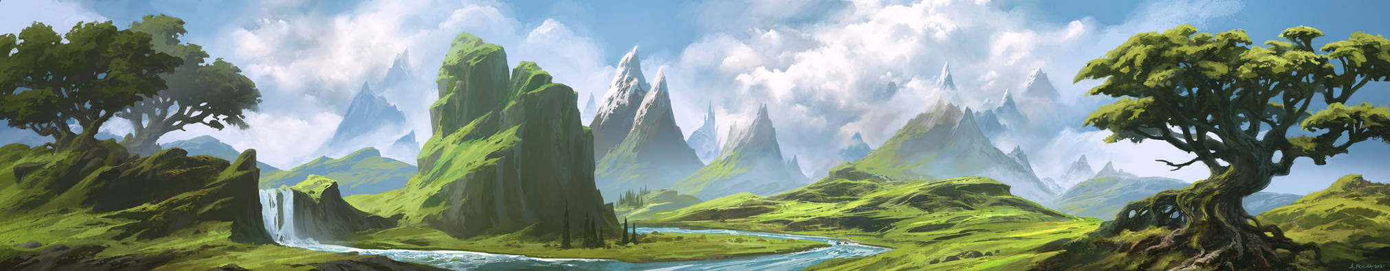 Loke Battlemats - Landscape