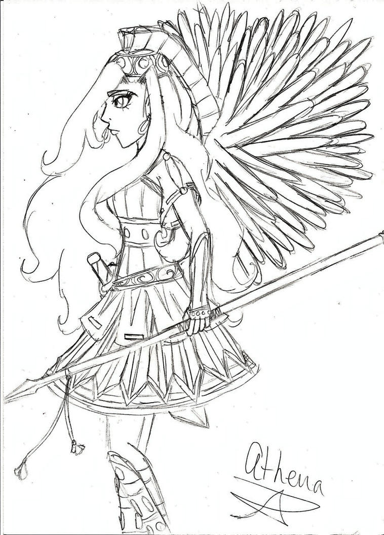 Athena Sketch by Serene-SimpliciT on DeviantArt