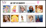 My Top 10 Favorite Princess Characters Meme