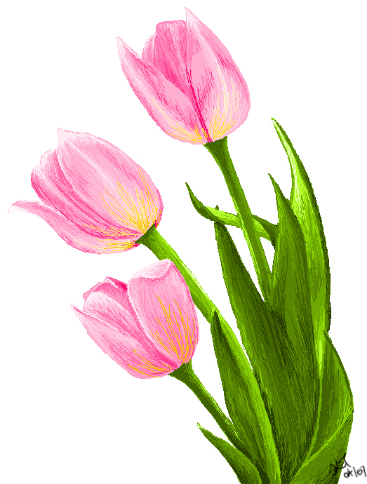 MS Paint Tulips by Blaaaaaaaah on DeviantArt