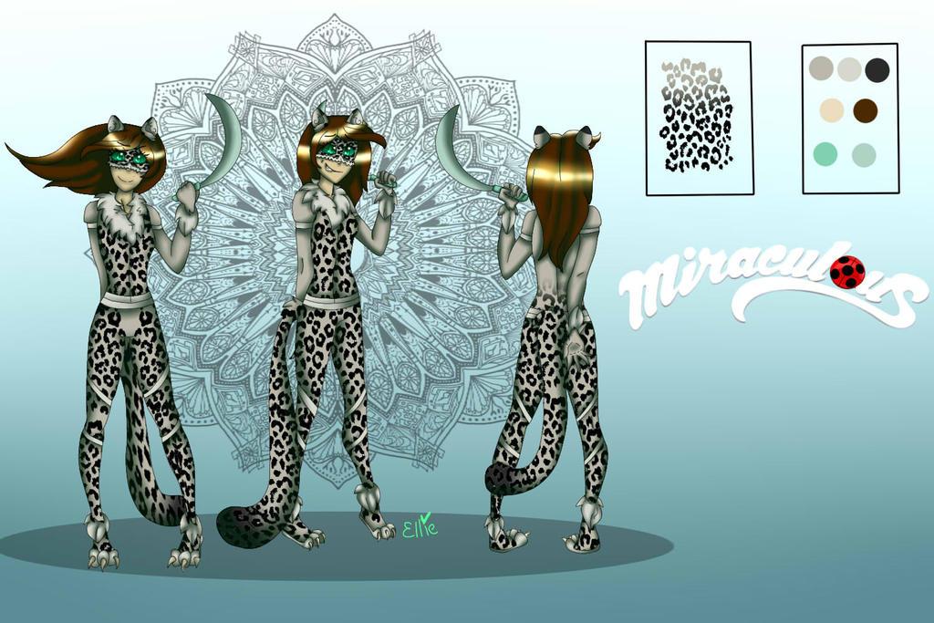 Snow Leopard Ref. Sheet .:Miraculous OC:. by MsFoxtrot
