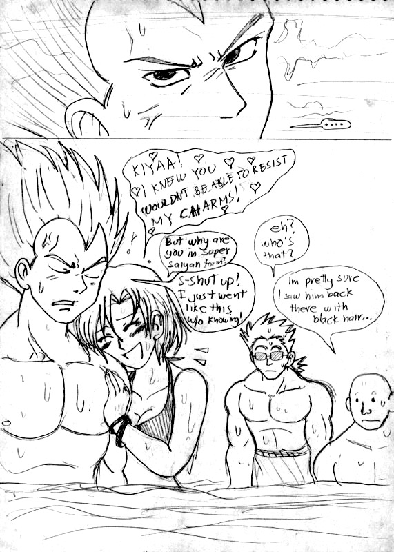 Vegeta and Bulma at the Beach3 by ViperXtreme