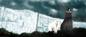 Game Of Thrones - Jon Snow And Ghost
