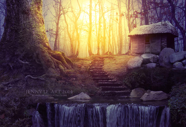 Forest light by JennyLe88