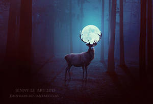 Deer of Moon by QueThu