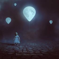 Moon Balloon by JennyLe88