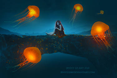 Flying Jellyfish by JennyLe88