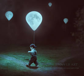 Moon Balloons 3 by JennyLe88