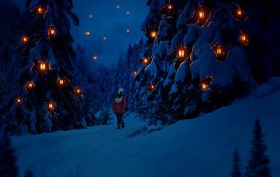 Winter Light II by JennyLe88