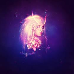 Colorful Light Lady by JennyLe88