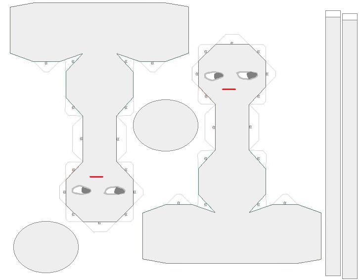 Ib - Mannequin Heads papercrafts by Elizabethsailor7