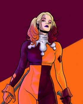 Frank Cho's Harley Quinn colours by me