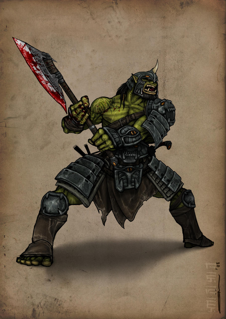 Orc Champ... with helm by bukulima