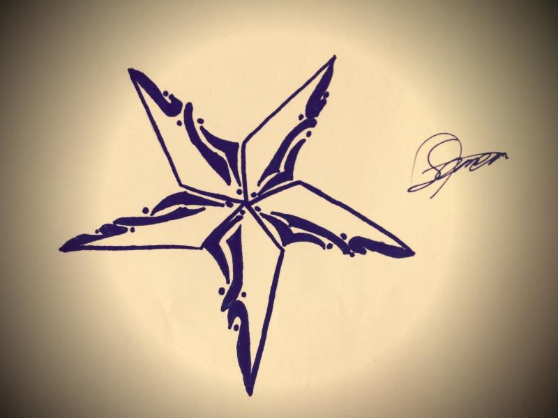 tattoo nautical star design by tattoooooo on deviantart. Black Bedroom Furniture Sets. Home Design Ideas