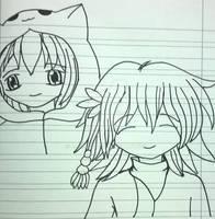 Artwork of my gacha avatars