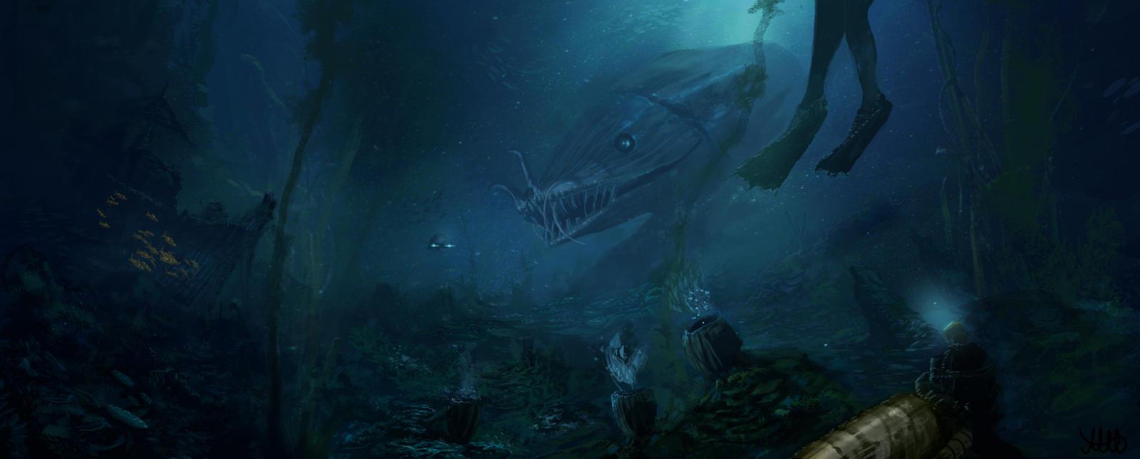 Digital Painting Ocean Floor