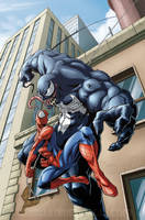 Spiderman vs Venom by EnricoGalli
