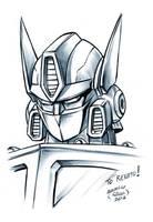 Optimus prime sketch by EnricoGalli