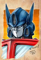 Optimus prime color sketch by EnricoGalli