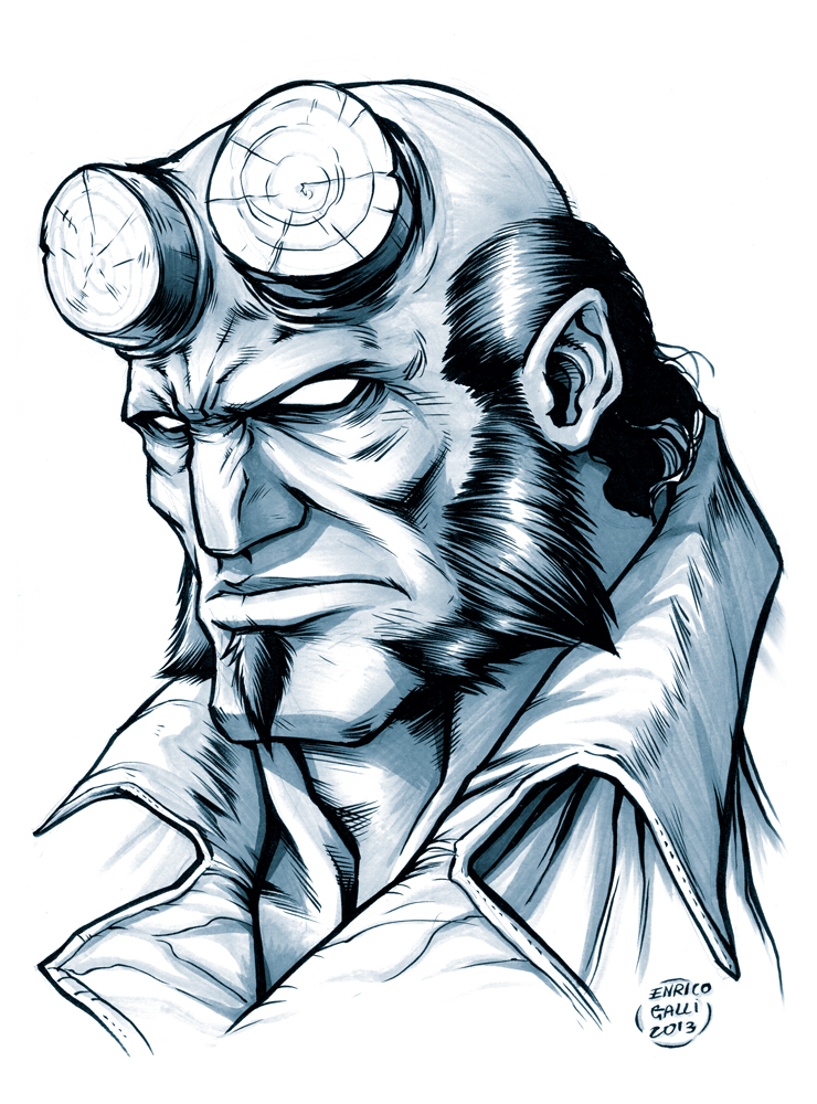 Hellboy sketch by EnricoGalli