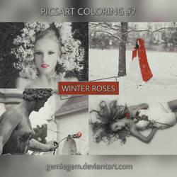 Winter Roses - PicsArt Coloring No.7