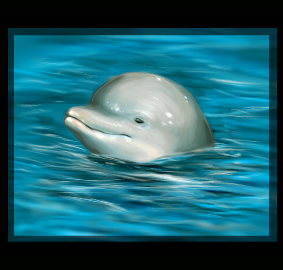 Dolphin Painting Dolphin painting by feyrah Famous Dolphin Painting