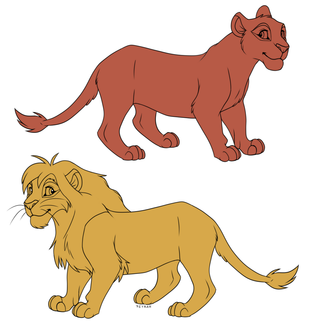 free base lioness and lion by feyrah on deviantart