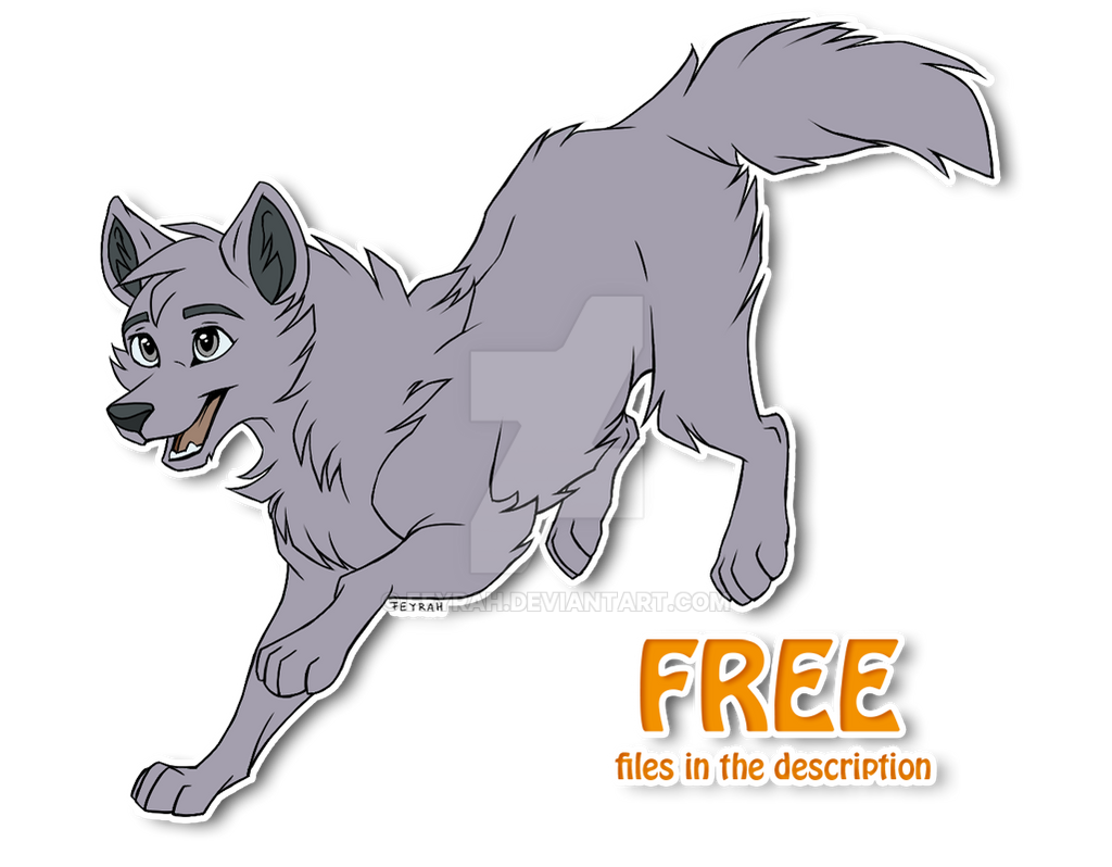 Free Wolf Base by Feyrah