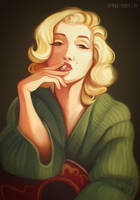 Marilyn Monroe by Feyrah