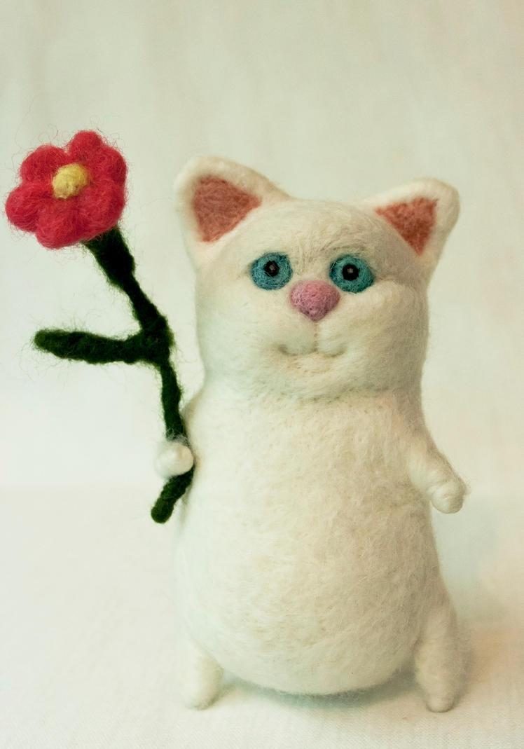 White cat by Yubodoc