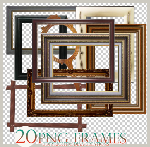 Png frames by cat s0ul on deviantart - Six pictures photo frame ...