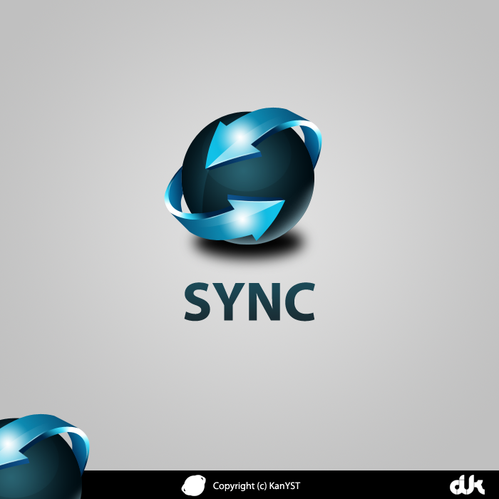 Creatii Grafice: KanYST Sync_logo_by_kanyst-d34cjlp