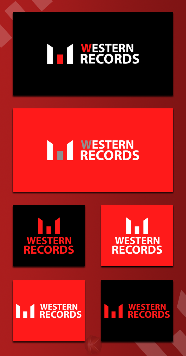 Creatii Grafice: KanYST Westernrecords_logo_by_kanyst-d6pfrwp