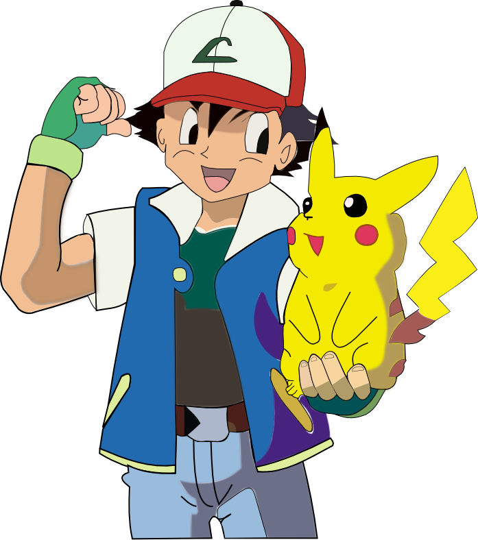 ash and pikachu pokemon vector by bushybro4Pokemon Pikachu And Ash