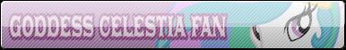 Goddess Celestia Fan - Fan Button by AishiranFeather
