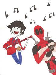 Marshall + Deadpool by nerdsman567