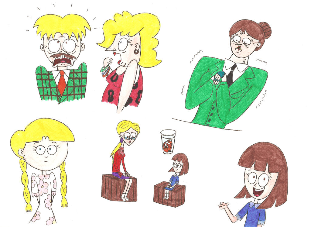 how to draw roald dahl characters