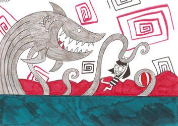 Fun with Sharktopus by nerdsman567