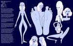 The Ei'galaa (Alien Reference Sheet) by nerdsman567